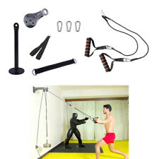 Fitness Pulley Cable Machine Attachment DIY Kit Arm Biceps Training Handle Strap
