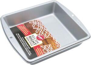 """Wilton 2105-956 Recipe Right Non-Stick 8 Inch Square Pan, 8"""" x 8"""" x 2"""""""