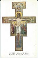 ASSISI - Chiesa di S. Chiara - IlCrocifisso che parlo a S. francesco (cartolina)