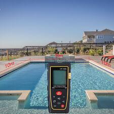 100M 328ft Digital Laser Distance LCD Meter Range Finder Measure Tape Hand Tools