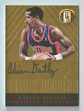 ADRIAN DANTLEY 2014/15 GOLD STANDARD ETCHED IN GOLD SIGNATURE AUTOGRAPH AUTO /99