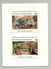 St Vincent #2267-2268 Paintings, Art 2v S/S Imperf Chromalin Proofs Mounted