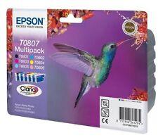 EPSON Original T0807 Ink Cartridge for  R265 R285 R360 RX560 RX585 RX685 Printer