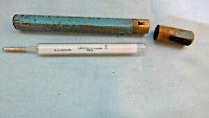 ancien thermomètre medical laboratoires sauba paris etui bronze