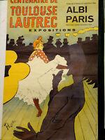 TOULOUSE LAUTREC  lithographie affiche centenaire exposition 1964 ALBI / PARIS