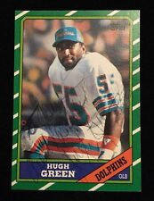 HUGH GREEN 1986 TOPPS AUTOGRAPH AUTO SIGNED FOOTBALL NFL CARD 57