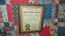 Original Iowa Pharmacy Registration Certificate July 1888 To 1938 Pharmacist