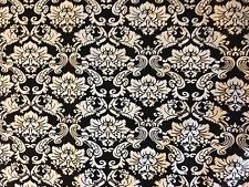 "28.5""x 45"" Home Essentials Cotton Black/White DAMASK Fabric from JoAnn Fabrics"