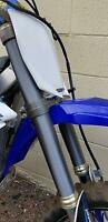 Fork Skins Graphics Grey Brushed Aluminum Covers Yamaha YZ 250F 450F 125 250 X