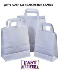 PAPER BAGS White Kraft Bag Kids Party MarketStall Lunch Sandwich Choose own Size