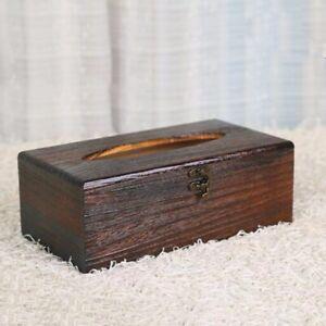1pc Retro Wooden Tissue Napkin Holder Case Cover Paper Box Bar Home Office Decor