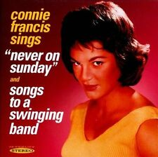 Never on Sunday/Songs to a Swinging Band by Connie Francis (CD, Jan-2012,...