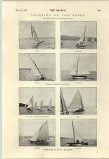 1894 Mr Albert D VANDAM with dog Clyde YACHTING 17 Raters