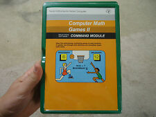 NOS TEXAS INSTRUMENTS TI-99/4A COMPUTER MATH GAMES II PHM 3083