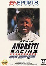 Mario Andretti Racing (Sega Genesis, 1994) Complete w/ Box & Manual