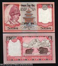 NEPAL 5 RUPEES P46 2002 *BUNDLE* KING YAK UNC EVEREST *H.M.GOVT* CURRENCY 100 PC