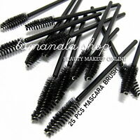 10 pcs Eyelash Black Disposable Mascara Wand Brush Spoolies Makeup New