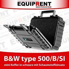 B&W type 500/B/SI kleiner Koffer mit Schaumstoff für Foto- / Videozubehör EQV04