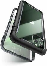Black Case For iPhone 11 Pro Max Rugged Clear Back Cover With Screen Protector