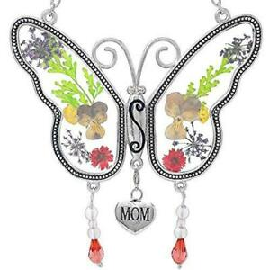 BANBERRY DESIGNS Mom Butterfly Mother Suncatcher with Pressed Flower Wings and a