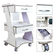 Us Dental Lab Trolley Hospital Stainless Steel Three Layers Serving Medical Cart
