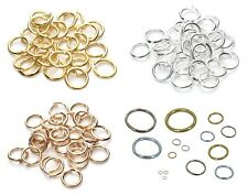 silver gold rose gold color stainless steel circle jump rings jewellery findings