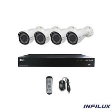 Infilux 8-Channel Indoor/Outdoor Security System- 4MP/IR/4 2.8-12mm Bullet Cmrs