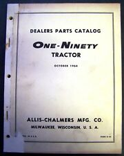 Allis Chalmers Models 190 Tractors Parts Manual - D-63