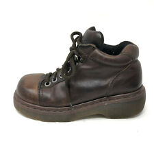 Dr Martens England Vintage Low Lace Up Boots Brown Leather Womens 7 Mens 6