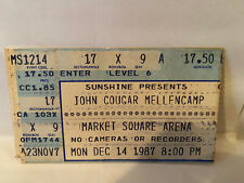 John Cougar Mellencamp Concert Ticket Stub 12-14-1987 Indianapolis