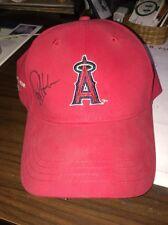 autographed Rex Hudler/anaheim angels baseball cap