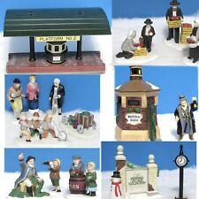 Department 56:Old Man Sea, Village Sign, Brixton Watchman, Platform, Amish +More