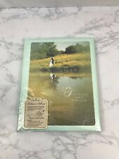 Vintage Hallmark Keepsake Deluxe Wedding Album Memory Book Mint Green Unused