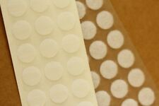 60 x 13mm Self Adhesive WHITE Hook & Loop Fastener Dots Discs 30 Hook & 30 Loop