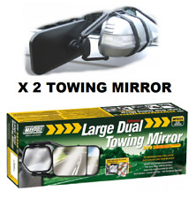 2 x Maypole Universal Large Dual Wing Convex and Flat Glass Mirror MP8324