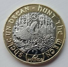 🇮🇲2018 Iom Hunt The Wren 2 Pound Coin isle of man £2 coins🇮🇲