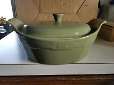 Longaberger Woven Traditions Sage,Medium Covered Casserole Dish.