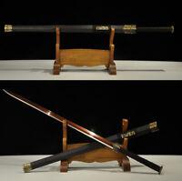 Full Tang Red Damascus Folded Steel Blade Chinese Sword Han Jian 汉剑 Sharp Edge