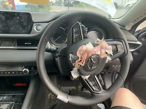 MAZDA 6 GL SERIES 2 LEATHER PADDLE SHIFT STEERING WHEEL, NO AIRBAG