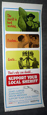 SUPPORT YOUR LOCAL SHERIFF original 1969 14x36 ROLLED movie poster JAMES GARNER