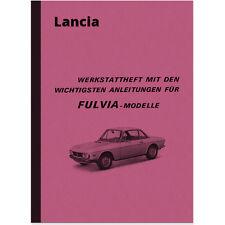 Lancia Fulvia Reparaturanleitung Montageanleitung 1300 1600 S 1.3 1.6 HF Manual