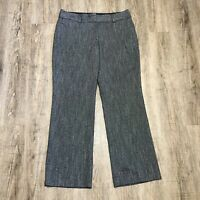 Ann Taylor LOFT Women's Pants ~ Sz 12 ~ Gray ~ Julie Trouser ~ Herringbone