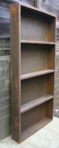 "4 avail 36""x72"" Antique Vintage Old Industrial HEAVY Steel Metal Shelf Book Case"