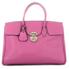 Letztes Modell / ROUVEN / JANE 40 Tote Bag / Fuchsia Pink Rose / Leder Tasche