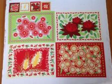 Print fabric (AUSSIE CHRISTMAS PLATE MAT PANEL)  Per Metre