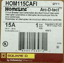 New Listingnew Homeline Hom115cafi 15amp 1 Pole 120v Square D Arc Fault Combination Breaker