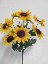 künstliche Sonnenblumen Sonnenblumenbusch Seidenblumen Deko künstlich wie echt