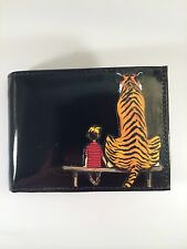 Calvin and Hobbes Decorated Leather Wallet M178