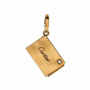 Cartier Letter Open Envelope Pendant Charm Pendant & Charms 18K Rose Gold with