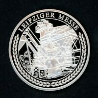 Medaille -Geschichte der DDR Leipziger Messe- 2009 versilbert PP (M1202